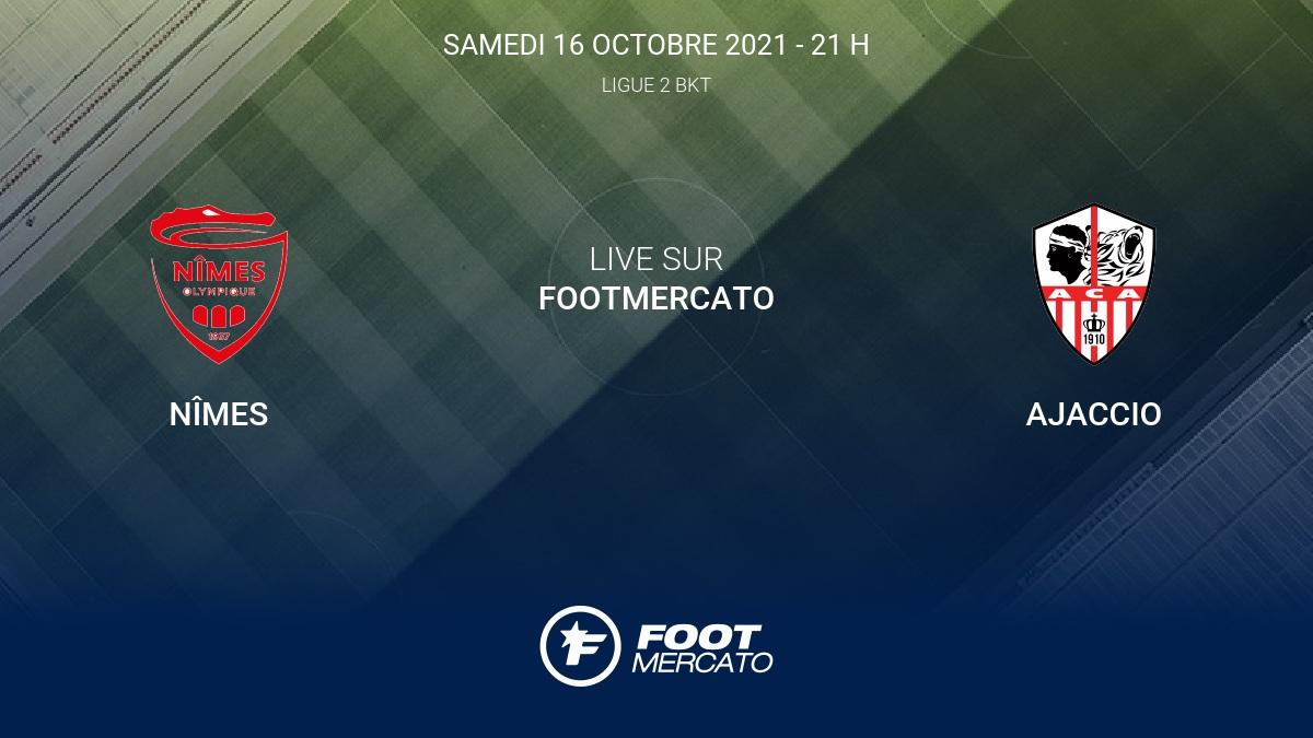 Live Nîmes - Ajaccio (0-1) la 12e journée de Ligue 2 BKT 2021/2022 18/10