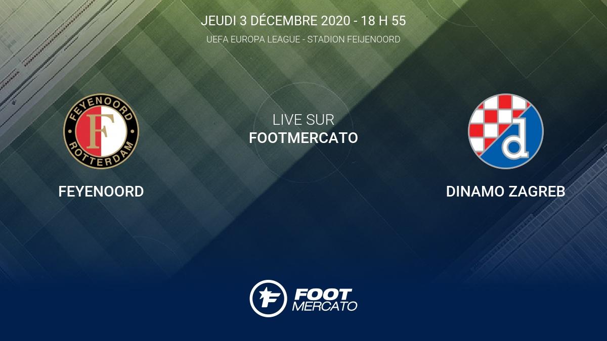 Resultat Feyenoord Dinamo Zagreb 0 2 La 5e Journee De Uefa Europa League 2020 2021 3 12