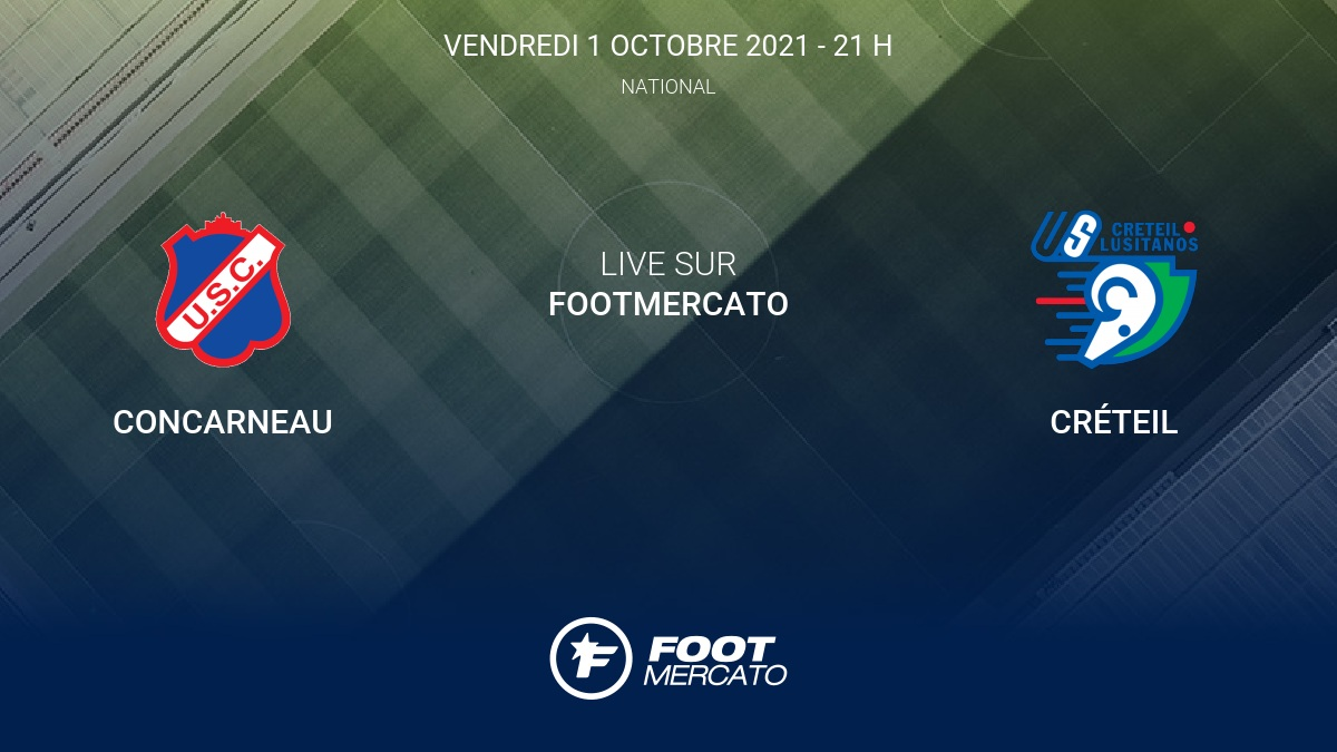 Live Concarneau - Créteil la 9e journée de National 2021/2022 1/10