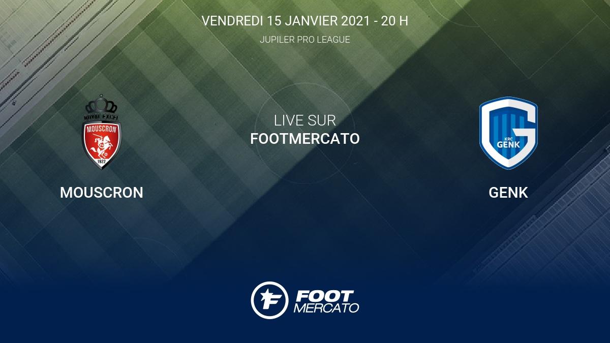 Live Mouscron Genk La 20e Journee De Jupiler Pro League 2020 2021 16 1