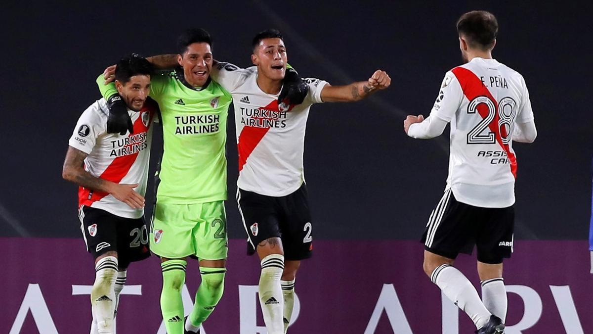 Enzo Pérez et River Plate célèbrent leur victoire en Copa Libertadores