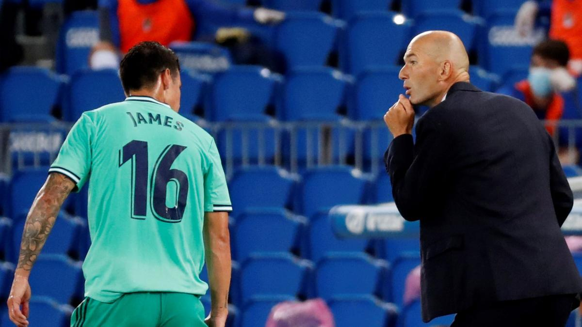 Real Madrid : Zinedine Zidane fait le point sur James Rodriguez