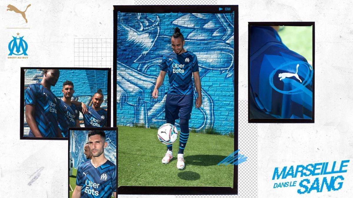 Puma dévoile le maillot extérieur de l'OM pour la saison 2021-2022 !
