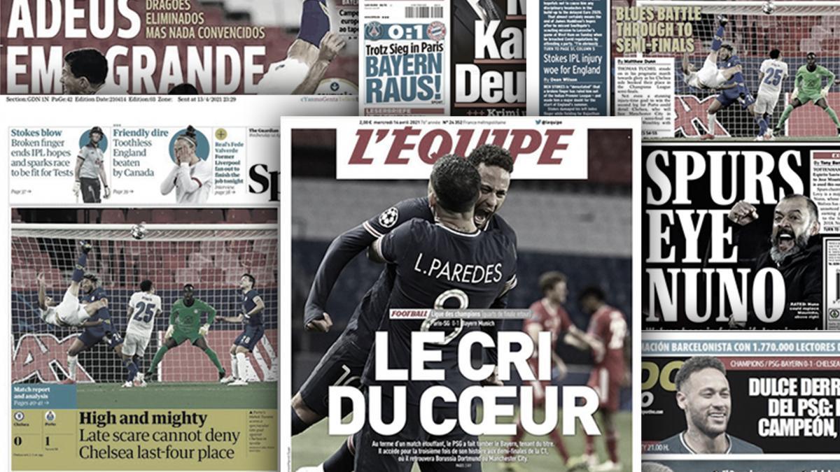 La qualification historique du PSG fait sensation, l'élimination du Bayern Munich choque l'Europe