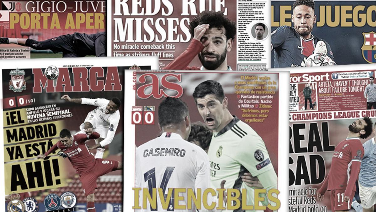 La qualification du Real Madrid régale l'Espagne, les regrets de Liverpool et Salah font jaser l'Angleterre