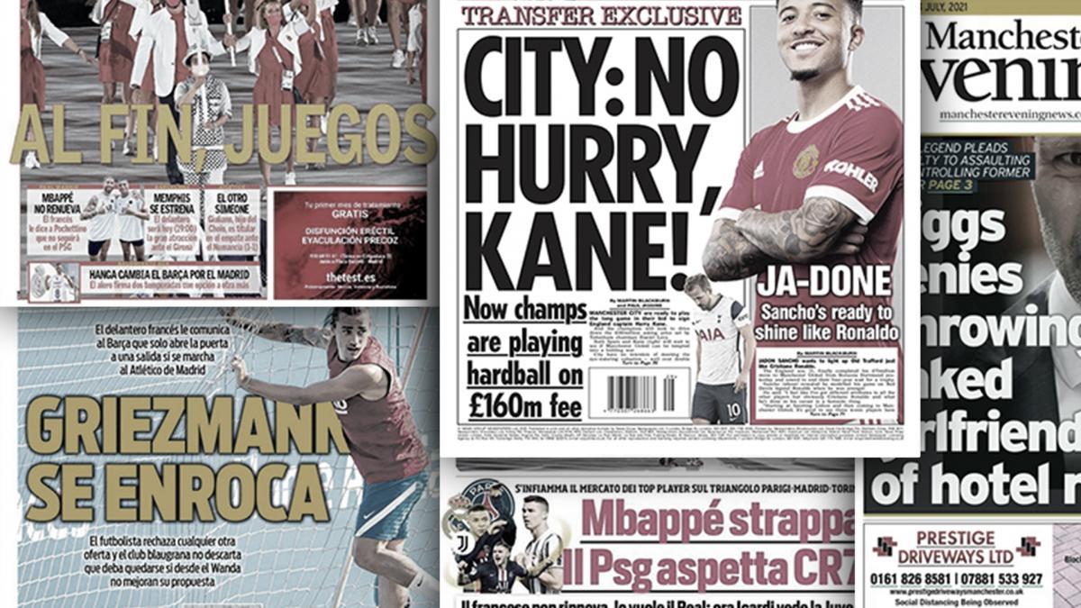 Le PSG a trouvé le remplaçant de Kylian Mbappé, Manchester City joue la montre dans le dossier Harry Kane