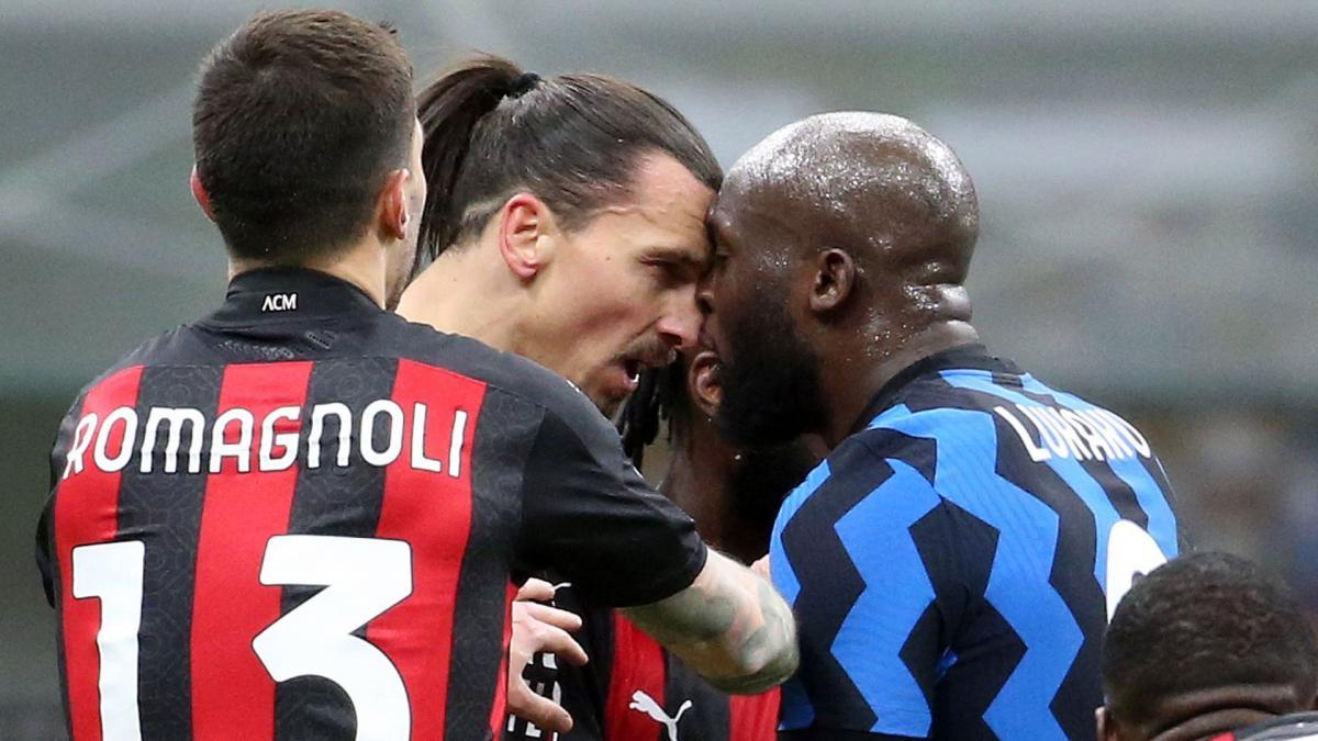AC Milan-Inter : Zlatan Ibrahimovic vs Romelu Lukaku, un duel de géants sous tension - Foot Mercato