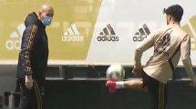 Faustino Asprilla cartonne Zinedine Zidane