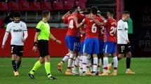 Liga : Granada et Valencia, autant de rouges que de buts