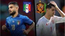 Italie - Espagne : les compositions officielles