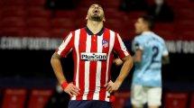 Atlético : Luis Suarez blessé à la jambe gauche