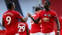 MU-Bournemouth : Paul Pogba et Anthony Martial alignés d'entrée