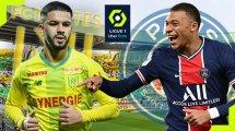 Nantes - PSG : les compositions probables