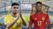Ukraine - Espagne : les compositions officielles