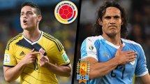 Colombie - Uruguay : les compositions probables