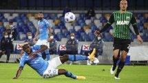 Serie A : Sassuolo s'offre le Napoli, Maxime Lopez buteur