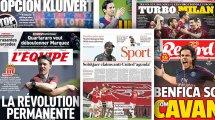 La leçon d'Arsenal face à Manchester City fait grand bruit en Angleterre, Benfica rêve de Cavani