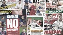 Le grand ménage de Koeman au Barça agite l'Espagne, ça bouge enfin pour deux indésirables du Real Madrid