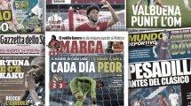 La déroute du Real Madrid fait jaser en Espagne, Romelu Lukaku impressionne toute l'Italie