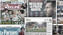 L'Espagne sous le choc après les déclarations de Lionel Messi, les trois pistes de l'AC Milan pour remplacer Zlatan Ibrahimovic