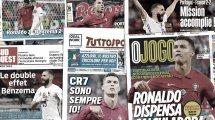 Les doublés de Karim Benzema et Cristiano Ronaldo font vibrer la presse