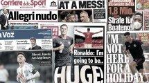 Les promesses de Cristiano Ronaldo enflamment l'Angleterre, les sanctions contre Jérôme Boateng font réagir en Allemagne
