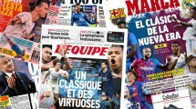 La presse espagnole s'enflamme pour le Clasico d'un nouvel âge, Lionel Messi à l'assaut du Vélodrome