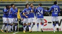 Serie A : la Sampdoria enfonce un peu plus Parme