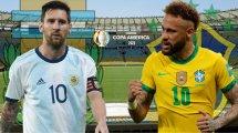 Argentine-Brésil : les compositions officielles