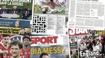 La presse anglaise en plein rêve après la qualification contre l'Allemagne, le FC Barcelone tremble pour Lionel Messi