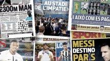 Le Real Madrid relance l'option Kylian Mbappé, la Messimania à Paris régale la presse européenne