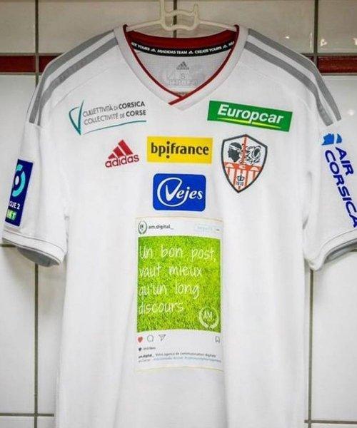 Le dernier maillot inédit de l'AC Ajaccio