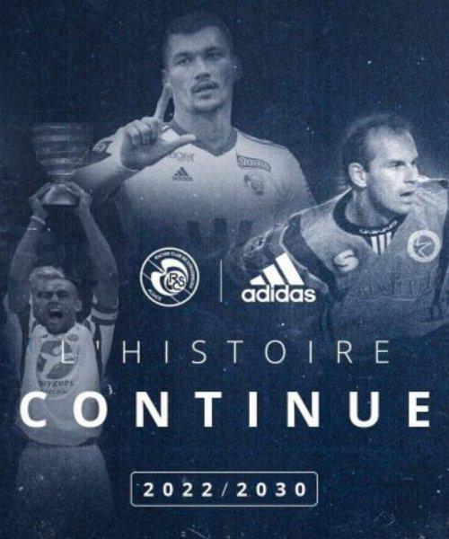 Le RC Strasbourg prolonge avec adidas jusqu'en 2030 !