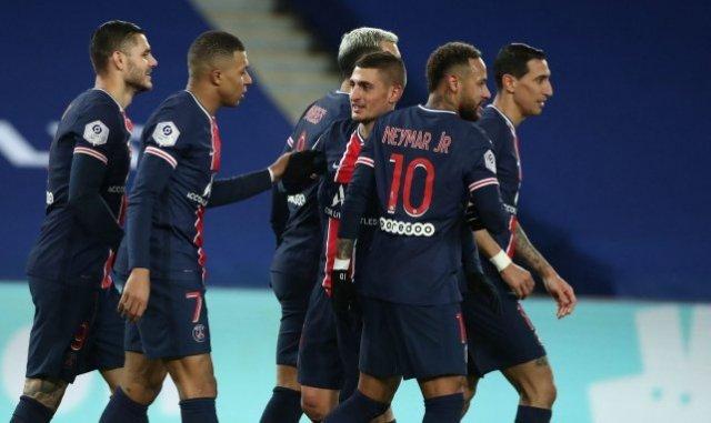 Mauro Icardi, Kylian Mbappé, Neymar et Angel Di Maria étaient alignés tous les 4 contre le MHSC