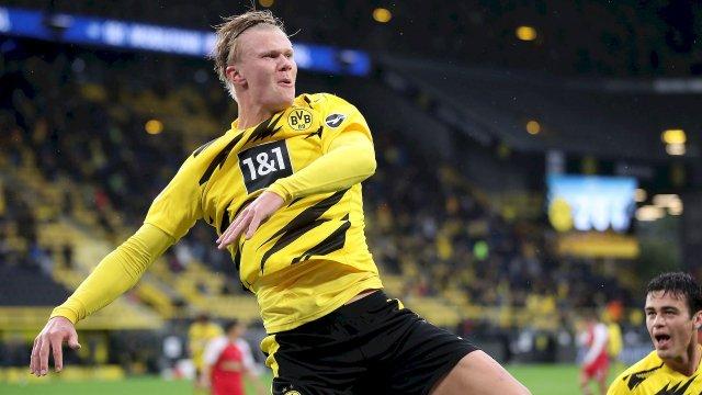 Erling Braut Håland contre Fribourg avec Dortmund