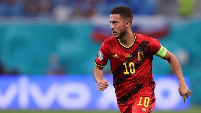 Eden Hazard sous le maillot de la Belgique.