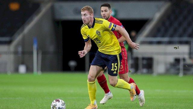 Dejan Kulusevski avec la Suède contre le Portugal