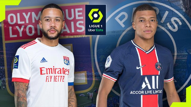 Memphis Depay (OL) et Kylian Mbappé (PSG)