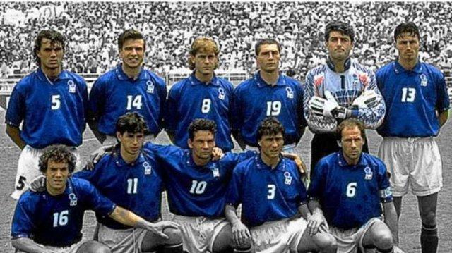 L'Italie de Baggio et Maldini a échoué en finale de Coupe du Monde en 94