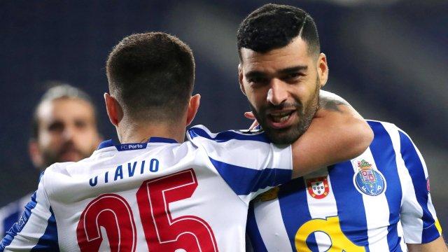 El Oporto celebra su primer gol