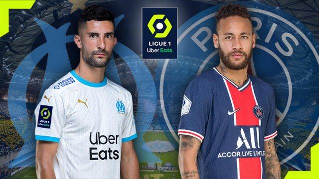 Álvaro (OM) et Neymar (PSG)