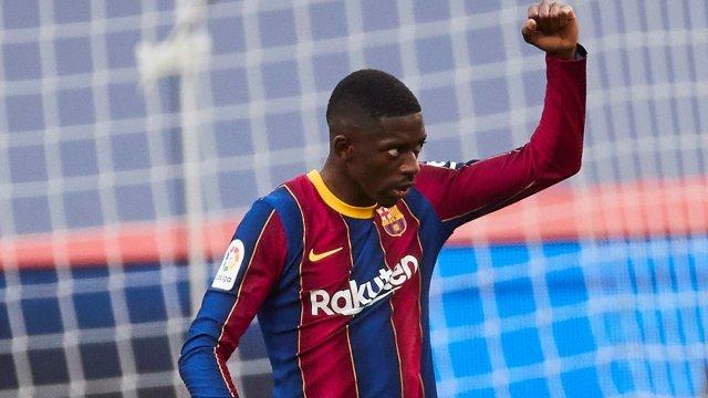 Ousmane Dembélé avec le Barça cette saison