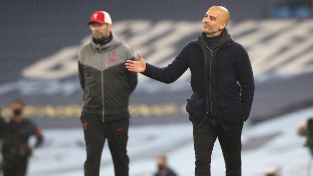 Pep Guardiola et Jürgen Klopp