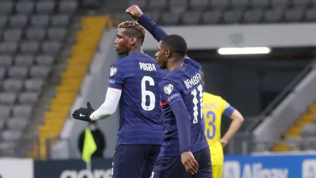 Paul Pogba et Ousmane Dembélé