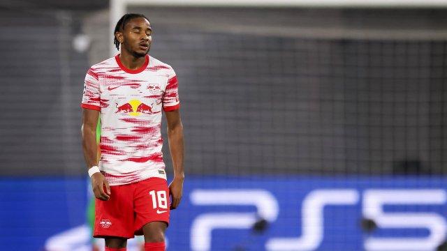 Christopher Nkunku sous le maillot du RB Leipzig en Ligue des Champions