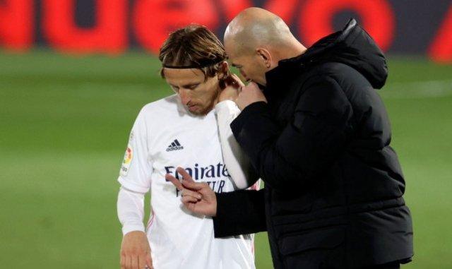 Zinedine Zidane et Luka Modric
