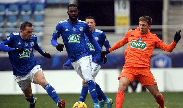 Jean-Eudes Aholou contre Montpellier en Coupe de France