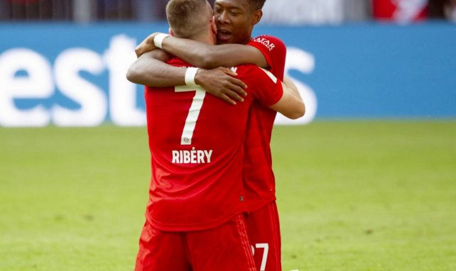 David Alaba avec Franck Ribéry sous les couleurs du Bayern Munich
