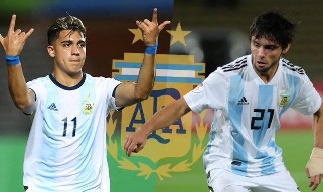 Alan Velasco et Luciano Vera sous le maillot de l'Argentine