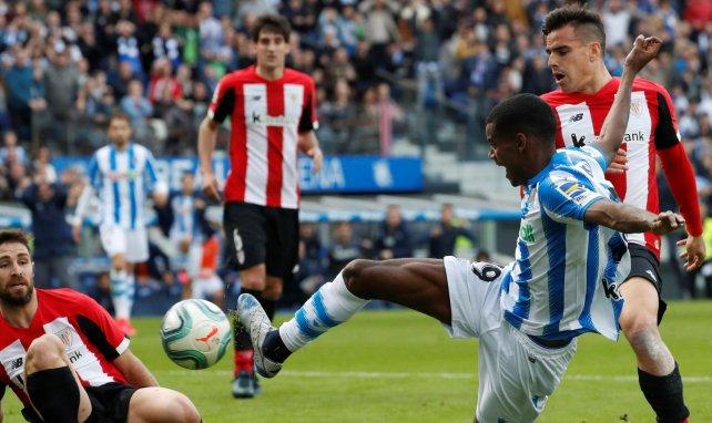 Alexander Isak lors du derby entre la Real Sociedad et l'Athletic